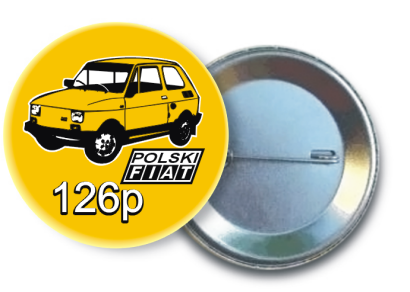 Fiat 126p - Button Pins