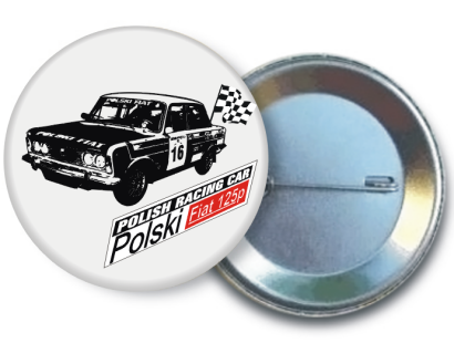 FIAT 125 racing car - button pins